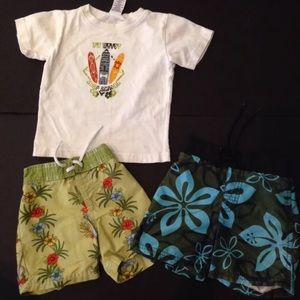 Other - Boys Gymboree Surf Swimsuits shirt 6 9 12